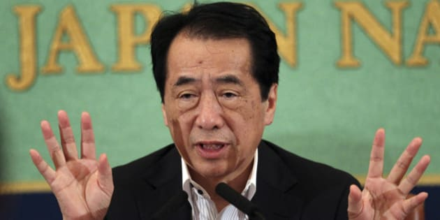 Japan's former Prime Minister Naoto Kan speaks during a press conference at the Japan National Press Club in Tokyo, Wednesday, Aug. 8, 2012. Ex-Prime Minister Kan criticized the operator of a tsunami-hit nuclear plant for hiding large portions of video taken during last year's crisis, including sound of his own.  Kan led the emergency effort from his Tokyo office during the crisis at the Fukushima Dai-ichi plant after the March 11, 2011, tsunami critically damaged its reactors. (AP Photo/Junji Kurokawa)