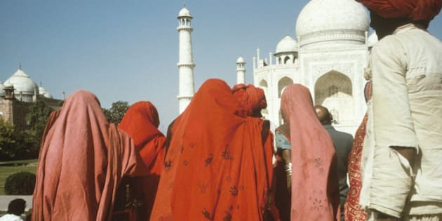 People near the Taj Mahal, Agra, India