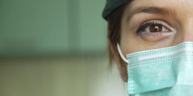 female surgeon closeup in hospital