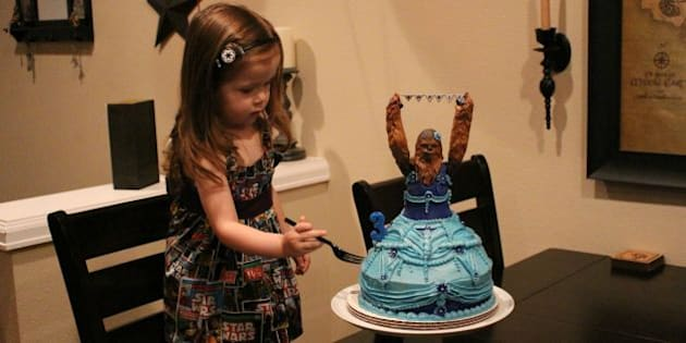chewbacca birthday cake wins three year old s birthday party