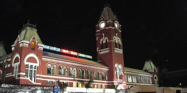 Chennai Central railway terminus. The most prominent landmark in Chennai.