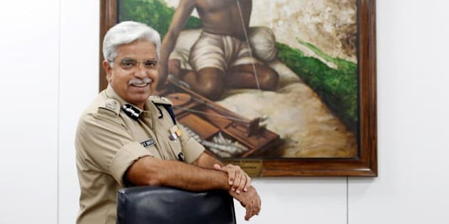 NEW DELHI, INDIA - OCTOBER 21: (Editors Note: This is an exclusive shoot of Hindustan Times) Delhi Police Commissioner B.S. Bassi during an interview with Hindustan Times, on October 21, 2015 in New Delhi, India. Bassi on Tuesday announced a reward of Rs. 25,000 for anyone helping expose corrupt practices by the police. He also said that he will quit if Chief Minister Arvind Kejriwal proves that he is involved in corruption. (Photo by Ravi Choudhary/Hindustan Times via Getty Images)