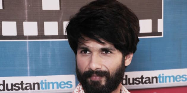 NEW DELHI, INDIA - OCTOBER 16: (Editors Note: This is an exclusive shoot of Hindustan Times) Bollywood actor Shahid Kapoor during an exclusive interview with HT City-Hindustan Time for the promotion of his upcoming movie Shaandaar at HT Media Office on October 16, 2015 in New Delhi, India. Romantic comedy film is set to release on October 22, 2015. (Photo by Shivam Saxena/Hindustan Times via Getty Images)