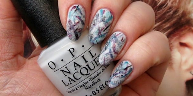 Nail Art Graffiti Inspired Mani Perfect For Channelling Your Inner