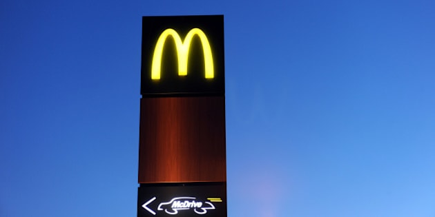 The neon sign of a Mac Donald's burger restaurant and a Mc Drive sign are pictured February 20, 2013 in Douarnenez, western of France.  AFP PHOTO FRED TANNEAU        (Photo credit should read FRED TANNEAU/AFP/Getty Images)