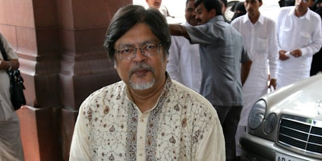 NEW DELHI, INDIA � JULY 26: BJP member Chandan Mitra at Parliament House on the first day of Monsoon Session in New Delhi on July 26, 2010. (Photo by Shekhar Yadav/India Today Group/Getty Images)
