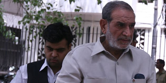 NEW DELHI, INDIA � MAY 18: Congress leader Sajjan Kumar at Karkardooma court on Tuesday in New Delhi. (Photo by Parveen negi/India Today Group/Getty Images)