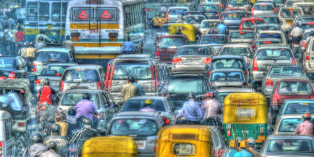 The metropolis of Delhi was not planned for this volume of traffic. Clogged roads with buses, cars, autorickshaws, bullock carts, cycles, bikes etc are a regular feature.