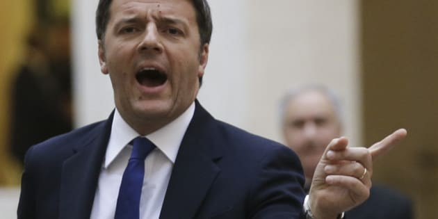Italian Prime Minister Matteo Renzi, left, gestures as he waits for Afghan President Ashraf Ghani at Chigi palace, Premier's office, in Rome, Tuesday, Dec. 1, 2015. (AP Photo/Alessandra Tarantino)