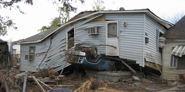After the levees broke. Lower 9th Ward, New Orleans