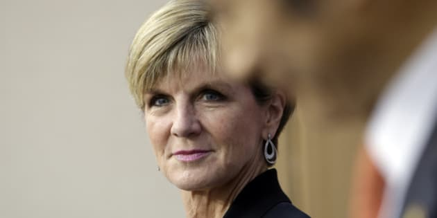 Australian Foreign Minister Julie Bishop, left, listens to South Korean Foreign Minister Yun Byung-se during a joint news conference following meetings at the Foreign Ministry in Seoul, South Korea, Thursday, May 21, 2015. (AP Photo/Lee Jin-man)