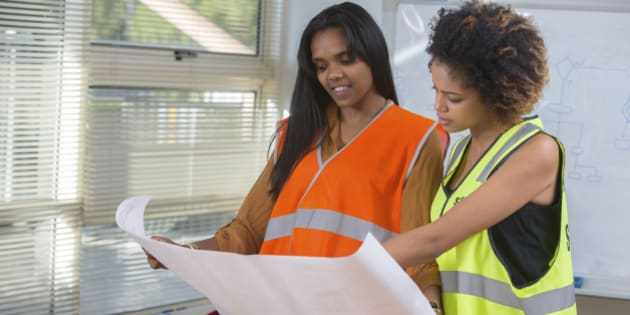 Black women engineers or construction professionals