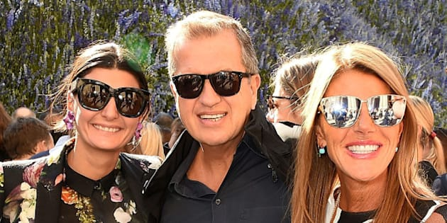 PARIS, FRANCE - OCTOBER 02:  Giovanna Battaglia, Mario Testino, Anna Dello Russo and Jan Olesen attend the Christian Dior show as part of the Paris Fashion Week Womenswear Spring/Summer 2016 on October 2, 2015 in Paris, France.  (Photo by David M. Benett/Dave Benett/Getty Images)