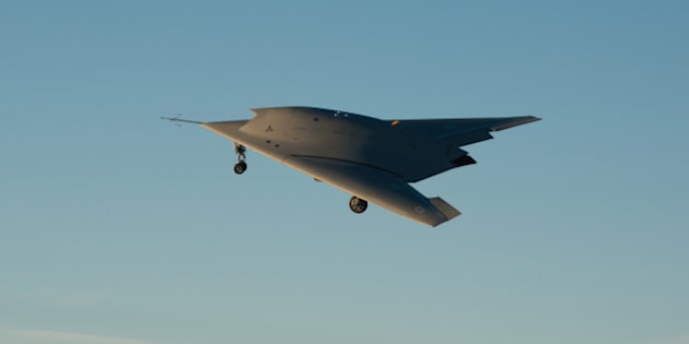 ISTRES, FRANCE: In this undated handout image supplied by Dassault Aviation on June 12, 2014,   The nEUROn, an Unmanned Combat Air Vehicle (UCAV) or drone in flight in December 2013.  The nEUROn, an Unmanned Combat Air Vehicle (UCAV) is developed under a European consortium led by French defence group Dassault. (Photo Dassault Aviation - M. Brunet via Getty Images)