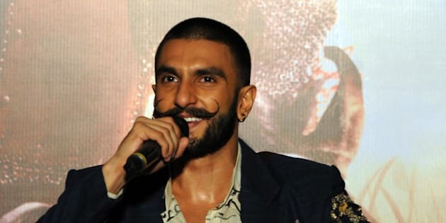 BHOPAL, INDIA - NOVEMBER 28: Bollywood actor Ranveer Singh interacts with the media during an interview to promote his upcoming film Bajirao Mastani, on November 28, 2015 in Bhopal, India. Bajirao Mastani is an Indian historical romance film produced and directed by Sanjay Leela Bhansali. The film is scheduled to be released on December 18, 2015. (Photo by Praveen Bajpai/Hindustan Times via Getty Images)