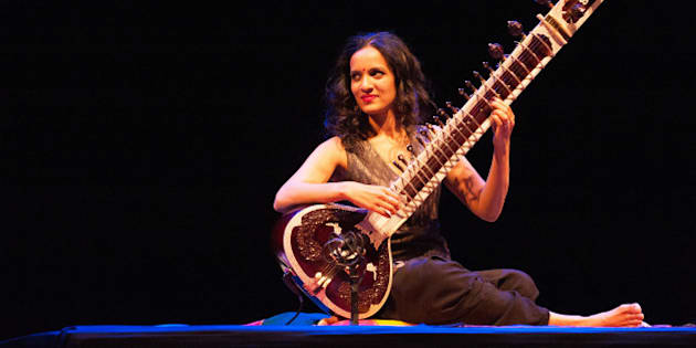LONDON, UNITED KINGDOM - MAY 17: Anoushka Shankar performs on stage at Royal Festival Hall on May 23, 2014 in London, England.  (Photo by Nicky J. Sims/Redferns via Getty Images)