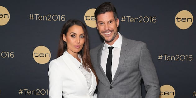 SYDNEY, AUSTRALIA - NOVEMBER 19:  Snezana Markoski and Sam Wood  pose at The Star during the Network 10 Content Plan 2016 event on November 19, 2015 in Sydney, Australia.  (Photo by Don Arnold/WireImage)