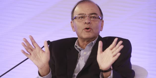 NEW DELHI, INDIA - DECEMBER 4: (Editor's Note: This is an exclusive shoot of Hindustan Times) Union Minister for Finance, Corporate Affairs, Information and Broadcasting, Arun Jaitley speaks during the Hindustan Times Leadership Summit on December 4, 2015 in New Delhi, India. (Photo by Sanjeev Verma/Hindustan Times via Getty Images)