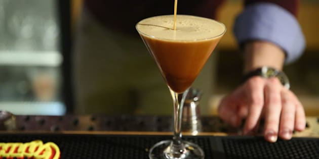 NEW YORK, NY - NOVEMBER 03:  Mix up your holidays with a classic Kahl��a Espresso Martini.  (Photo by Astrid Stawiarz/Getty Images for Pernod Ricard)
