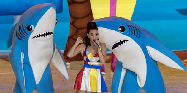Katy Perry performing at halftime of Super Bowl XLIX at University of Phoenix Stadium in Glendale, Ariz., on Feb. 1, 2015.