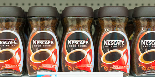 TORONTO, ONTARIO, CANADA - 2015/02/11: Nescafe is a brand of instant coffee made by Nestle. It comes in many different product forms. The name is a portmanteau of the words 'Nestle' and 'cafe'. (Photo by Roberto Machado Noa/LightRocket via Getty Images)