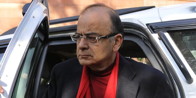 NEW DELHI, INDIA - DECEMBER 16: Finance Minister Arun Jaitley during the winter session of Parliament on December 16, 2015 in New Delhi, India. In a fresh bid to break the logjam on the crucial GST Bill, the government is contemplating holding an all-party meeting soon as it is confident of the support of a larger number of Opposition parties on the issue. (Photo by Vipin Kumar/Hindustan Times via Getty Images)