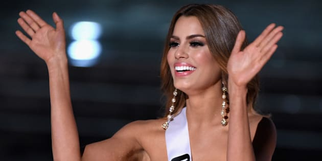 LAS VEGAS, NV - DECEMBER 20:  Miss Colombia 2015, Ariadna Gutierrez, is named a top three finalist during the 2015 Miss Universe Pageant at The Axis at Planet Hollywood Resort & Casino on December 20, 2015 in Las Vegas, Nevada.  (Photo by Ethan Miller/Getty Images)