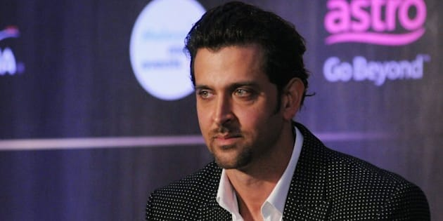 Indian Bollywood actor Hrithik Roshan attends the IIFA Weekend and Awards announcement press conference in Mumbai late on May 28, 2015. AFP PHOTO        (Photo credit should read STR/AFP/Getty Images)