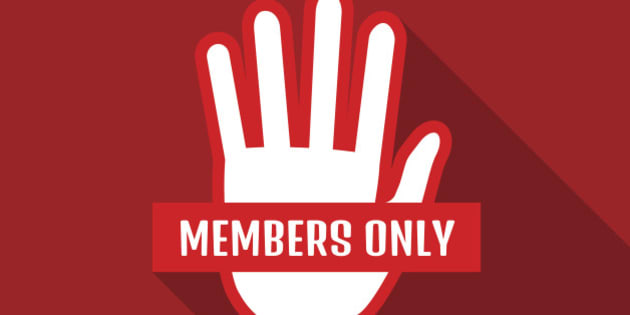 VIP Club members only banner