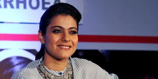 Indian Bollywood actress Kajol Devgn poses as she attends a press conference for the campaign Help A Child Reach 5 in Mumbai on March 19, 2014.   AFP PHOTO/STR        (Photo credit should read STRDEL/AFP/Getty Images)