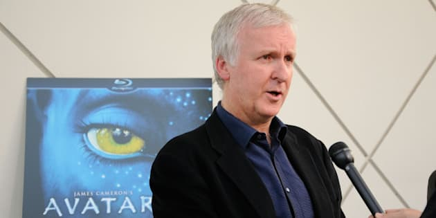 PASADENA, CA - APRIL 27:  Director James Cameron gets interviewed on the blue carpet at 'Is Pandora Possible?', a scientific discussion panel regarding the science and technology behind the film 'Avatar', held at the California Institute of Technology on April 27, 2010 in Pasadena, California.  (Photo by Michael Tullberg/Getty Images)