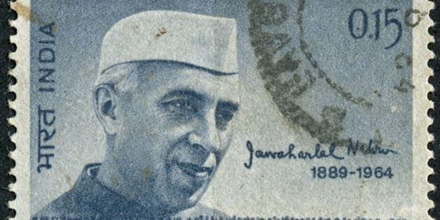 Cancelled Stamp From India Featuring Jawaharlal Nehru Who Was The First Prime Minister Of India