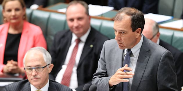 CANBERRA, AUSTRALIA - DECEMBER 03:  Special Minister of State Mal Brough during House of Representatives question time at Parliament House on December 3, 2015 in Canberra, Australia. Mr Brough is being investigated by the Australian Federal Police any involvement in getting former staffer James Ashby to obtain copies of then-speaker Peter Slipper's diary in 2012.  (Photo by Stefan Postles/Getty Images)