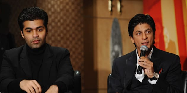 LONDON, ENGLAND - FEBRUARY 03:  Karan Johar and Shah Rukh Khan attend the 'My Name Is Khan' press conference at the Courthouse Hotel on February 3, 2010 in London, England.  (Photo by Ian Gavan/Getty Images)