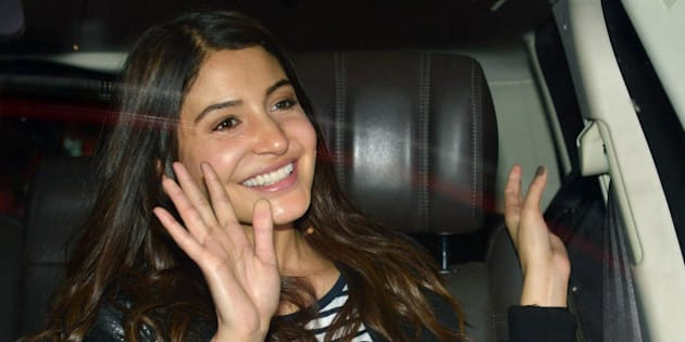 MUMBAI, INDIA OCTOBER 15: Anushka Sharma spotted at Mumbai airport.(Photo by Milind Shelte/India Today Group/Getty Images)