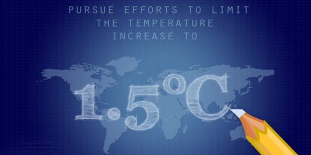 """""""Holding the increase in the global average temperature to well below 2°C above pre-industrial levels and to pursue efforts to limit the temperature increase to 1.5°C above pre-industrial levels, recognizing that this would significantly reduce the risks and impacts of climate change."""""""