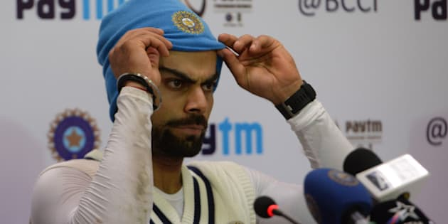 NEW DELHI, INDIA  DECEMBER 03: India cricket team captain Virat Kohli during during a practice session in New Delhi.(Photo by Pankaj Nangia/India Today Group/Getty Images)