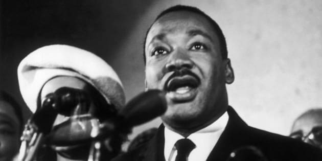 UNSPECIFIED - JANUARY 02:  The Reverend Martin Luther King Jr., Leader Of The Civil Rights Movement, Giving A Press Conference Between 1961 And 1968. His Wife Coretta Is Partially Pictured On The Left, Half-Hidden By The Microphone.  (Photo by Keystone-France/Gamma-Keystone via Getty Images)