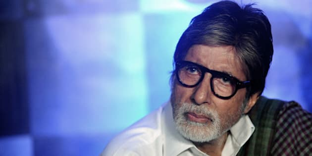 Indian Bollywood actor Amitabh Bachchan attends the press conference of his upcoming Hindi film Wazir directed by Bejoy Nambiar, written and produced by Vidhu Vinod Chopra in Mumbai on January 3, 2016.  AFP PHOTO / AFP / STR        (Photo credit should read STR/AFP/Getty Images)