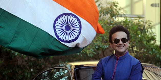 Pakistani Singer, Musician and Composer Adnan Sami poses as he celebrates being granted Indian citizenship from the New Year, at his residence in Mumbai on January 3, 2016.  AFP PHOTO / AFP / STR        (Photo credit should read STR/AFP/Getty Images)