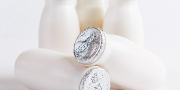 bottles of yogurt