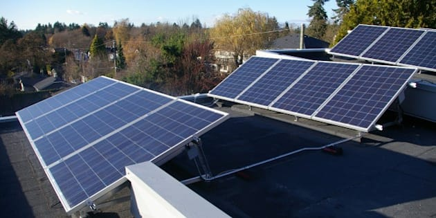 "Solar Photovoltaic Installation in Vancouver, BC completed by Vancouver Renewable Energy (<a href=""http://www.vrec.ca"" rel=""nofollow"">www.vrec.ca</a>) .  Licensed Create Commons for non-commercial use.  Please link to original and credit VREC."