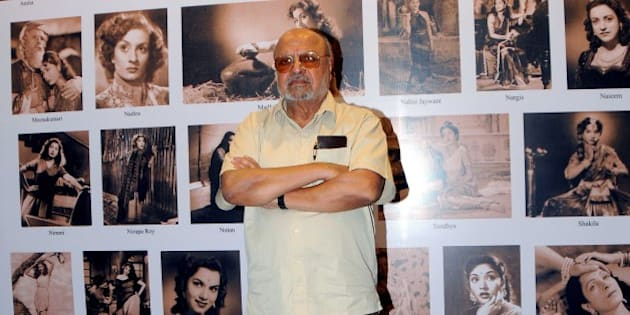 Indian Bollywood filmmaker Shyam Benegal poses as he attends the screening of his documentary film 'The Master Shyam Benegal' written by Khalid Mohamed and produced by Anjum Rizvi, at a function organized by The Asiatic Society of Mumbai and Mumbai Research Centre  in Mumbai on March 20, 2014.    AFP PHOTO/STR        (Photo credit should read STRDEL/AFP/Getty Images)