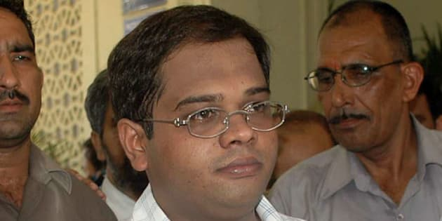 Amit Jogi, son of former Chhattisgarh Chief Minister Ajit Jogi, is produced in court in New Delhi, India, Saturday, July 2, 2005. Amit Jogi has been arrested in connection to the murder of Nationalist Congress Party leader Ramavtar Jaggi. (AP Photo)