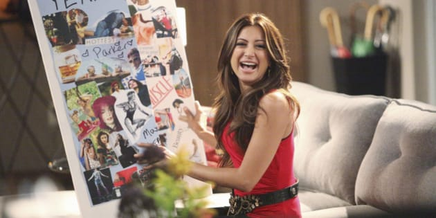 HAPPY ENDINGS - 'Secrets and Limos' - Jane convinces the gang to make vision boards so they can visualize their way to their dreams, only the universe isn't exactly listening; Brad has a difficult time relating to humorless boss Mr. Forristal (guest star Larry Wilmore) until the guy, a car buff, flips for Max's limo; and Dave is reluctant to introduce his new girlfriend (guest star Noureen DeWulf) to everyone, on 'Happy Endings,' WEDNESDAY, OCTOBER 19 (9:31-10:00 p.m., ET) on the ABC Television Network. (Photo by Adam Taylor/ABC via Getty Images)NOUREEN DEWULF