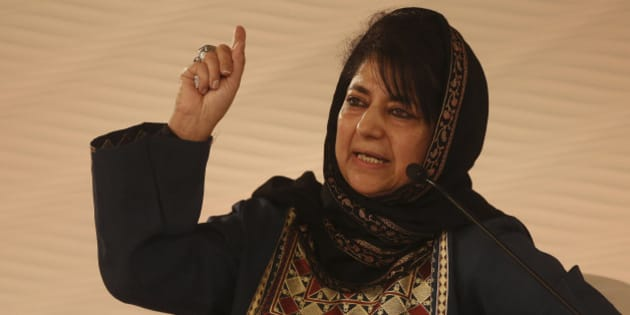 NEW DELHI, INDIA - DECEMBER 5: (Editor's Note: This is an exclusive shoot of Hindustan Times) Mehbooba Mufti Sayeed, President of the Jammu & Kashmir Peoples Democratic Party, speaks during a session at Hindustan Times Leadership Summit on December 5, 2015 in New Delhi, India. (Photo by Ravi Choudhary/Hindustan Times via Getty Images)