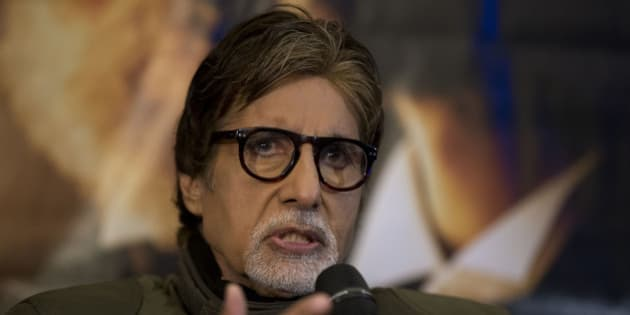 "Indian actor Amitabh Bachchan speaks during a press conference to promote the movie ""Shamitabh"" at a hotel in London, Tuesday, Jan. 27, 2015.  (AP Photo/Matt Dunham)"