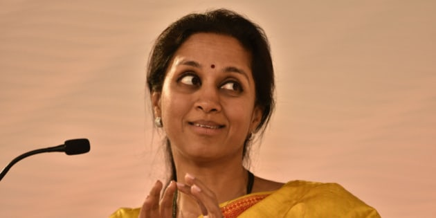 NEW DELHI, INDIA - DECEMBER 4: (Editor's Note: This is an exclusive shoot of Hindustan Times) NCP MP Supriya Sule during a session on the day 1 of Hindustan Times Leadership Summit on December 4, 2015 in New Delhi, India. (Photo by Gurinder Osan/Hindustan Times via Getty Images)