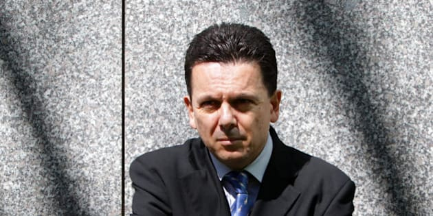 CANBERRA, AUSTRALIA - SEPTEMBER 14: (AUSTRALASIA AND EUROPE OUT) Portrait with South Australian Federal Senator Nick Xenophon at Parliament House, on September 14, 2011 in Canberra, Australia. (Photo by Kym Smith / Newspix via Getty Images)