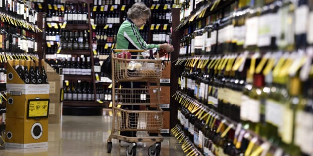 LITTLETON, CO - OCTOBER 20: Gail Morin shops for wine at her local Safeway, which she says is convenient as she was also able to pick up a number of food items. Colorado state law allows one store per chain to sell 3.5% beer, wine and spirits, but alcohol companies are fighting to get their products on the shelves of every store. Safeway at South Broadway and Mineral in Littleton on Tuesday, October 20, 2015. (Photo by AAron Ontiveroz/The Denver Post via Getty Images)